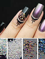 1800 pcs 2mm Preto AB Strass Flatback Nail Art Strass Encantos Das Unhas Nail Art Decorations