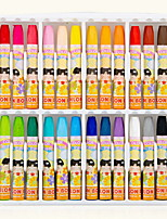 Multipurpose Art School Supplies Six Point Oil Painting Stick 24Colors/Box