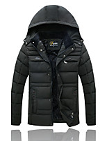 Large Size Middle-Aged Men's Casual Jacket Thick Warm Coat