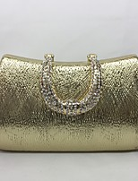 Women Evening Bag Metal All Seasons Event/Party Hobo Push Lock Silver Black Gold Champagne