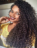 150% Density Kinky Curly Natural Color Lace Front Wig Human Virgin Hair  Wig for Black Women