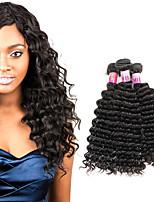 Tissages de cheveux humains Cheveux Péruviens Bouclé 1 An 3 Pièces tissages de cheveux
