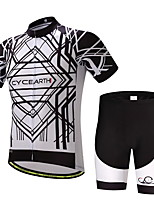 CYCEARTH Cycling Jersey Shorts Pants Short Sleeve Set Men's Bike Clothing Suits Clothes Summer Breathable Quick Dry CES1014