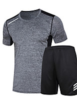 Men's Short Sleeve Running Clothing Suits Running Summer Sports Wear Running/Jogging