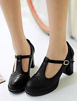 Mujer Zapatos PU Primavera Confort Tacones Tacón Cuña Tacón Stiletto Para Casual Negro Gris Amarillo