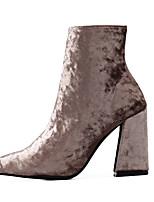Women's Loafers & Slip-Ons Comfort Fur Spring Casual Comfort Brown Gray Black 3in-3 3/4in