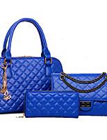 Women Bag Sets PU All Seasons Event/Party Formal Office & Career Rectangular Rivet Zipper Zipper Beige Black Gold Blue