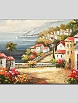 Handgemalte Landschaft Abstrakt Ein Panel Leinwand Hang-Ölgemälde For Haus Dekoration