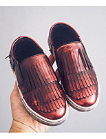 Girls' Flats Comfort First Walkers Leatherette Spring Fall Casual Walking Comfort First Walkers Magic Tape Low Heel Ruby Gray Silver Flat