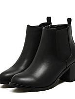 Для женщин Ботинки Удобная обувь Полиуретан Зима Повседневные Удобная обувь Черный 4,5 - 7 см