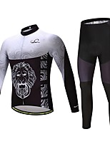 CYCEARTH Cycling Winter Thermal Fleece Jersey Pants Set Long Sleeve Bike Clothing Suits Bicycle Sport Warm Clothes Gel Pad