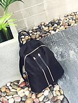 Women Backpack Canvas All Seasons Casual Round Zipper Black