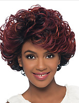 Afro Curly Red Fashion Short Synthetic Capless Wig New Style Heat Resistant