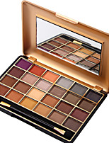 24 Color Eyeshadow Palette Dry Eyeshadow palette Pressed powder Normal Daily Makeup Brush