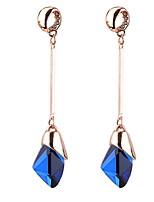 Drop Earrings Imitation Diamond Women's Girls' Euramerican Rhinestone Personalized Dailywear Party Business Movie Jewelry