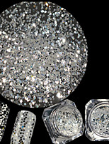 0.2g/Bottle New Nail Art Diamond White Glitter Sequins Hexagon Shining Thin Slice Nail Art DIY Beauty Sparkling Decoration Manicure Beauty Flat Tip