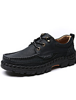 Men's Sneakers Comfort Light Soles Driving Shoes Fall Nappa Leather Casual Flat Heel Low Heel Black Light Brown Khaki Flat