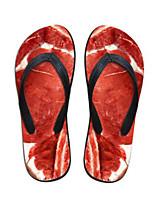 Damen Slippers & Flip-Flops Komfort PVC Sommer Normal Komfort Rot Flach