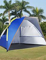 3-4 personnes Tente Unique Tente automatique Une pièce Tente de camping 1000-1500 mm Taffetas en PolyesterCamping & Randonnée Etanche