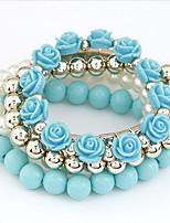 Mulheres Bracelete Gema Moda Resina EVA Liga Formato Circular Formato de Flor Jóias ParaCasamento Festa Aniversário Recém-Nascido