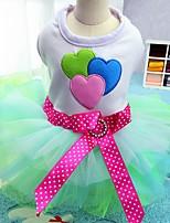 Кошка Собака Платья смокинг Одежда для собак Для вечеринки На каждый день Свадьба Бант Синий Розовый