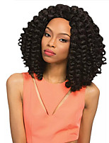 8inch 75g Jump Wand Curl Twist Crochet Braid Jamaican Bounce African Synthetic Braiding Hair 3PCS High Temperature Fiber