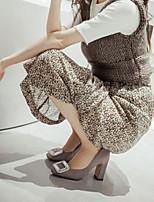 Femme Chaussures à Talons Confort Cuir Nubuck Printemps Décontracté Confort Noir Gris 7,5 à 9,5 cm