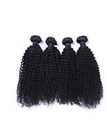 Popular and High Quality 4Pcs/Lot 400g Brazilian Kinky Curly Virgin Remy Human Hair Wefts 100% Unprocessed Natural Black Human Hair Weaves/Extensions