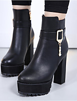 Women's Boots Slingback PU Spring Casual Slingback Black 3in-3 3/4in