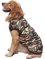 Dog Vest Dog Clothes Casual/Daily Police/Military Camouflage Color