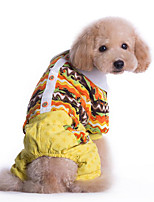 Dog Clothes/Jumpsuit Dog Clothes Casual/Daily Geometic Yellow Blue