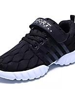 Boys' Athletic Shoes Comfort Light Soles PU Spring Fall Athletic Walking Comfort Light Soles  Flat Heel Blue Ruby Black Flat