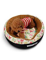 Собака Кровати Животные Коврики и подушки Милый Теплый Мягкий Оранжевый Бежевый