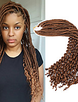 Dread Locks Gehäkelt Locken Federnd Locken Faux Dreads Häkeln faux dreads Dreadlock Erweiterungen KanekalonDunkeles Rotbraun Schwarz /