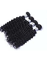 Tissages de cheveux humains Cheveux Brésiliens Ondulation profonde Plus d'Un An 4 tissages de cheveux