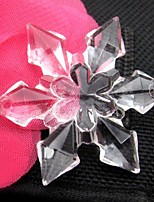 10 Piece / Group 4.7cm Transparent Six-Flap Acrylic Snow Flake/DIY Hanging Decorations/Christmas Gift Accessories