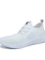 Men's Sneakers Comfort Light Soles Spring Summer Fabric Casual White Black Gray Flat
