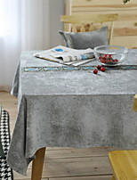 Nordic Gray Embroidery Craft Cotton And Linen Table Cloth 90*90cm