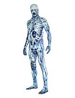 Zentai Suits Morphsuit Skeleton/Skull Ghost Zombie Vampire Zentai Cosplay Costumes Vintage Leotard/Onesie Zentai Lycra® UnisexHalloween