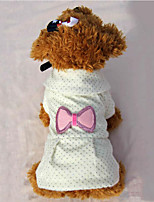 Dog Dress Dog Clothes Casual/Daily Princess Blushing Pink Beige