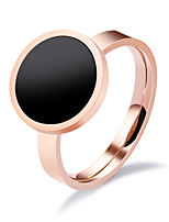 Women's Ring Vintage Elegant Rose Gold Titanium Steel Ring Jewelry For Wedding Anniversary Party/Evening  Engagement Daily