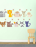Animales Formas Ocio Pegatinas de pared Calcomanías de Aviones para Pared Calcomanías Decorativas de Pared Material Decoración hogareña