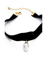 Women's Choker Necklaces Imitation Pearl Alloy Fashion Hip-Hop Personalized Rock Jewelry ForDaily Casual Stage Valentine Holiday Going