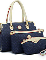 Women Shoulder Bag PU All Seasons Casual Outdoor Round Zipper Blushing Pink Blue