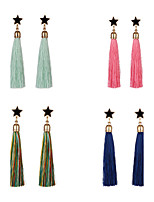 Women's Drop Earrings Acrylic Tassel Alloy Star Jewelry For Dailywear Stage