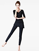 Women's Running Pants Fitness, Running & Yoga Bottoms for Yoga Exercise & Fitness Dancing Modal Black