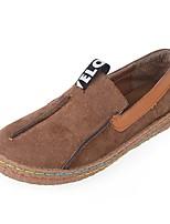 Для женщин Ботинки Удобная обувь Ткань Лето Повседневные Удобная обувь Серый Коричневый Зеленый На плоской подошве