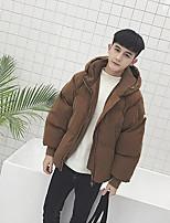 Пальто Простое Обычная На подкладке Для мужчин,Однотонный На каждый день Полиэстер Полипропилен,Длинный рукав
