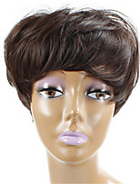 Long Brown Natural Wigs for Elder Women Costume Synthetic Wigs