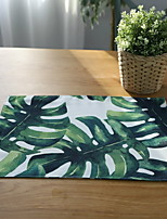 American Green Tropical Plants Cotton And Linen Table Placemat 32*45cm